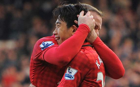Manchester United v Norwich City, Shinji Kagawa, Wayne Rooney