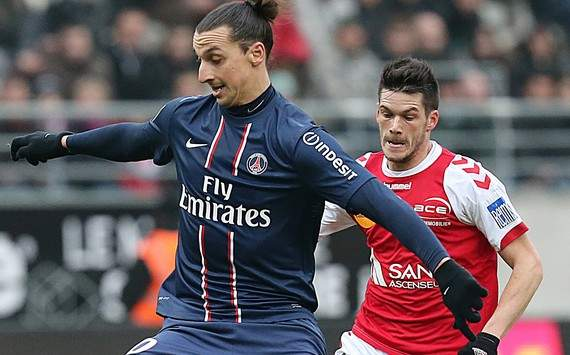 Ligue 1 : Zlatan Ibrahimovic vs Johan Ramare (Reims vs Paris Saint-Germain)