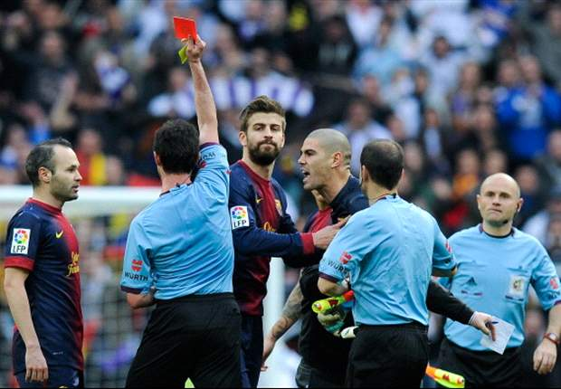 Revealed: Valdes' foul-mouthed rant at referee Perez Lasa
