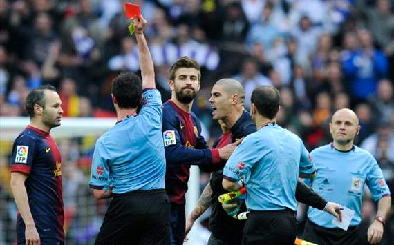 Revealed: Valdes' tirade at referee Perez Lasa