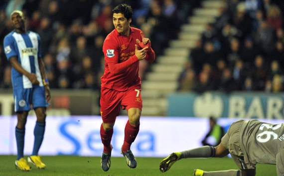 Wigan Athletic v Liverpool, Luis Suarez