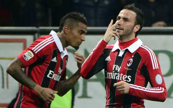 Kevin Prince Boateng, Giampaolo Pazzini - Milan-Lazio