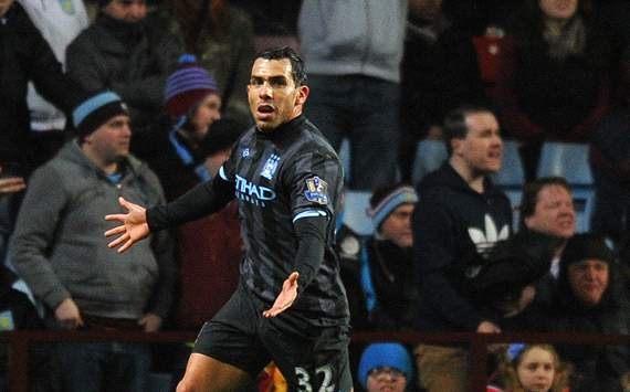 Aston Villa v Manchester City, Carlos Tevez
