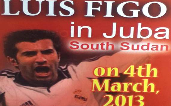 Luis Figo's football mission in South Sudan begins