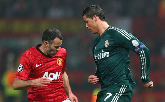 UEFA Champions League, Manchester United v Real Madrid, Ryan Giggs, Cristiano Ronaldo