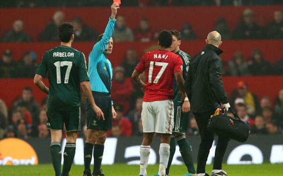 Giggs: Nani red card was my biggest ever shock in football