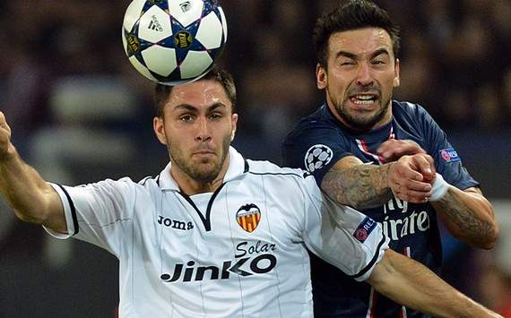 Champions League : Ezequiel Lavezzi vs Victor Ruiz (Paris SG vs Valencia)