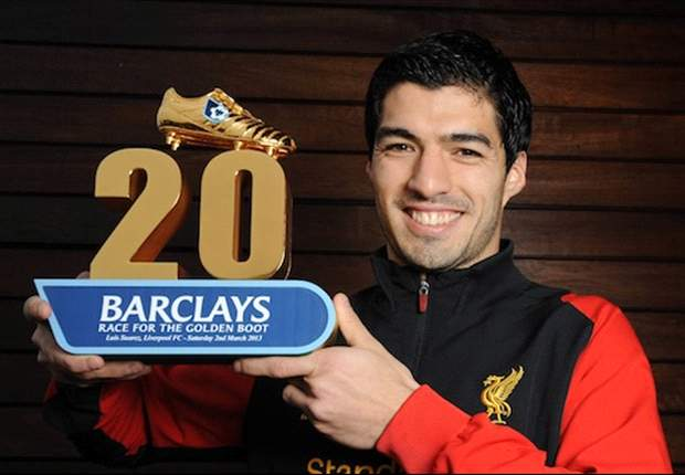 Suarez scoops Barclays Race For The Golden Boot landmark award