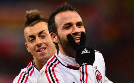 Giampaolo Pazzini, Stephan El Shaarawy - Milan v Genoa - Serie A