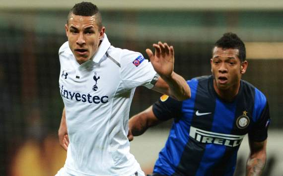 Europa League,  Inter-Tottenham - Jake Livermore, Fredy Guarin