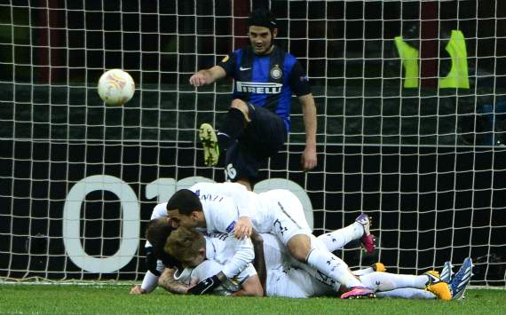 Europa League,  Inter-Tottenham - Tottenham players celebrating
