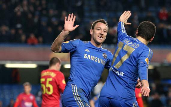EFA Europa League Round :  John Terry - Eden Hazard Chelsea v FC Steaua Bucuresti