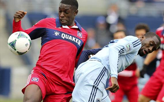  Jalil Anibaba, C.J. Sapong, Chicago Fire, Sporting Kansas City, MLS