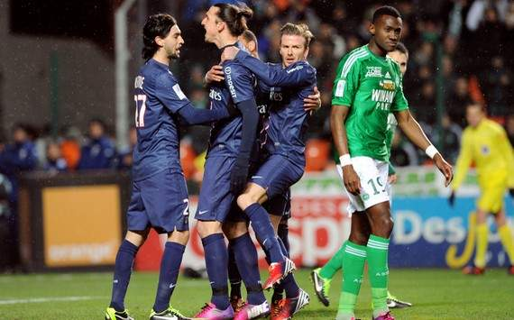 Ligue 1 : Zlatan Ibrahimovic & David Beckham & Javier Pastore (AS Saint-Etienne vs Paris SG)