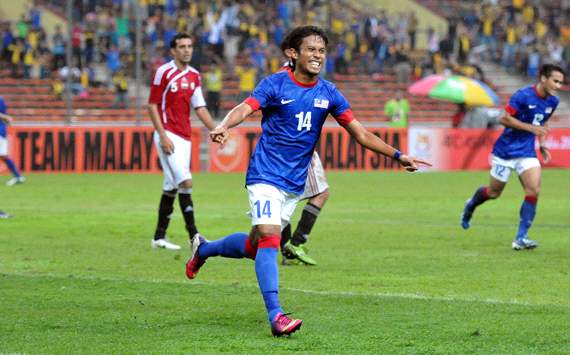Khyril Muhymeen celebrating his goal