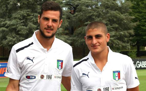 Regali per l'Under: Destro&amp;Verratti all'Europeo