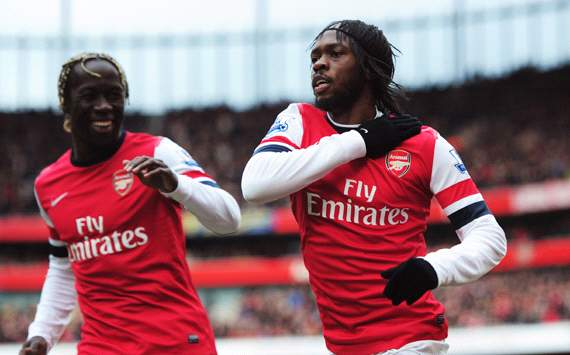 EPL - Arsenal v Reading, Gervinho, Bacary Sagna