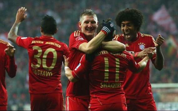 Bayerns Torjubel gegen den HSV