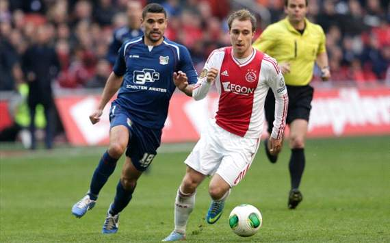 No Dortmund offer for Eriksen, says Overmars