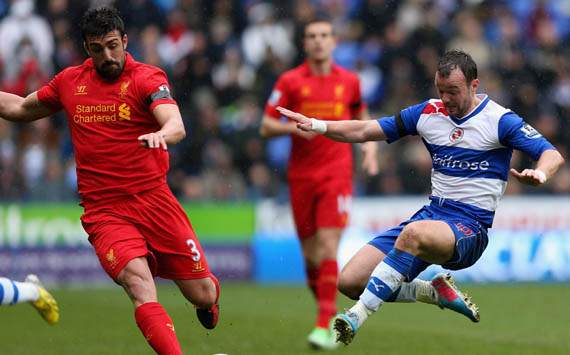 EPL - Reading v Liverpool , Noel Hunt & Jose Enrique