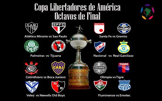 Los octavos de la libertadores tendrán 8 equipos campeones