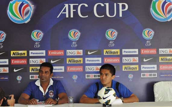 Willy Moraes, Sunil Chhetri, Pre-match Press Conference, Churchill Brothers vs Kitchee SC, AFC Cup