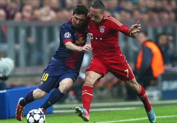 مسی: ریبری بهترین بازیکن اروپاست