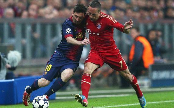 UEFA, Champions League, FC Bayern Munich vs. FC Barcelona, Franck Ribery, Lionel Messi