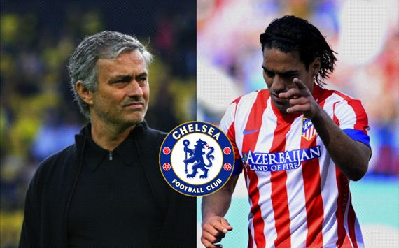 Mourinho y Falcao, cerca del Chelsea