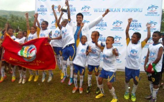 SSB Mimika United Juara Danone 2013 Wilayah Papua
