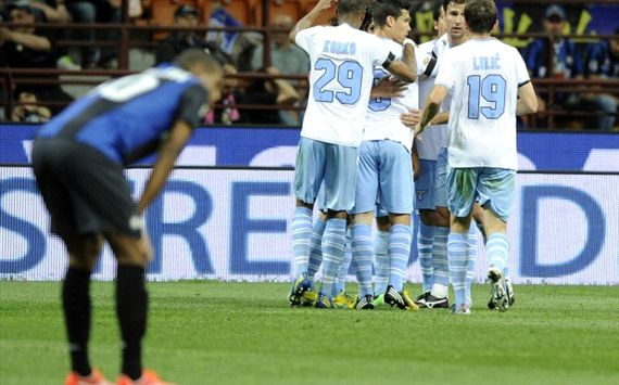 Tris Lazio, Inter al tappeto: addio Europa