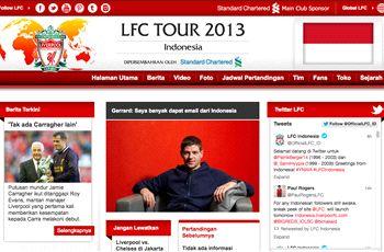 Web Resmi Liverpool FC Berbahasa Indonesia