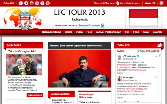 Liverpool Luncurkan Laman Resmi Indonesia