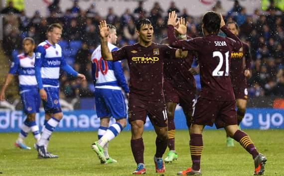 EPL - Reading v Manchester City, Sergio Aguero