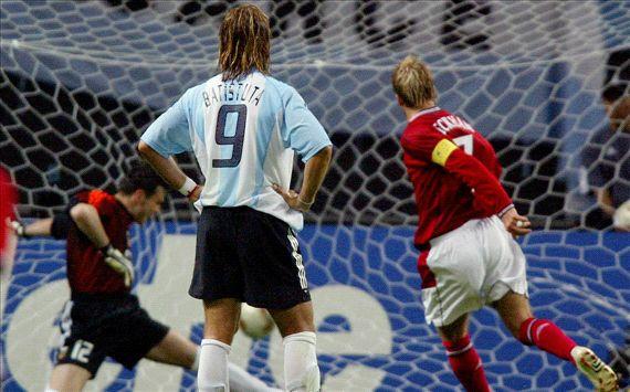 David Beckham vs Argentina