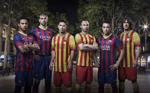 Barcelona presenta sus camisetas 2013/14