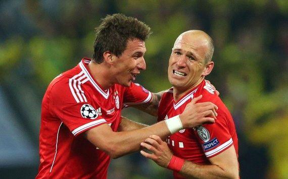 Champions League: Borussia Dortmund - Bayern Munich, Mario Mandzukic, Arjen Robben