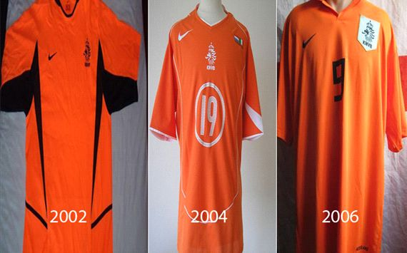 kostum sepakbola belanda dari masa ke masa info sepakbola