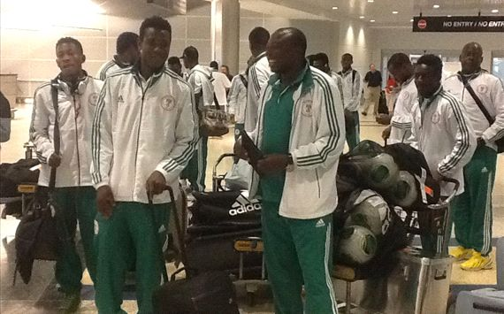 The Super Eagles on arrival at the airport in Houston