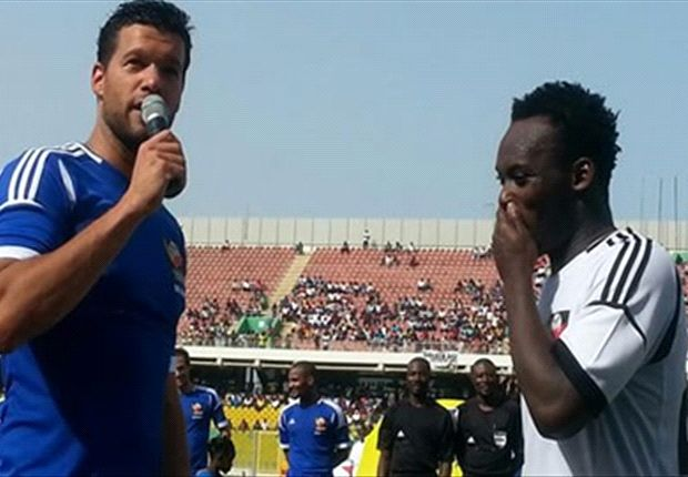 Michael Essien and Ballack wowed the fans in Ghana in the Charity Game