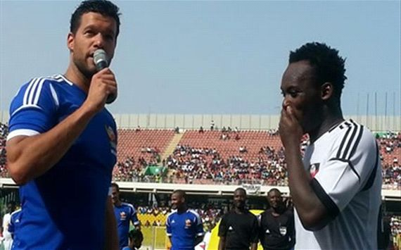 Essien beats Ballack in charity game