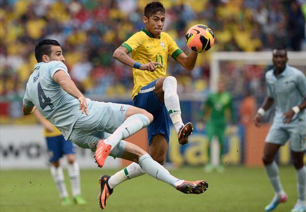 Neymar no amistoso contra a França