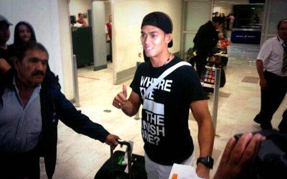 Andrade, a su llegada al aeropuerto