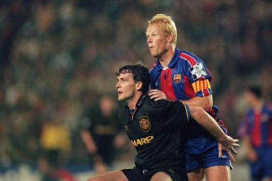 CL: Mark Hughes - Ronald Koeman, Manchester United - Barcelona (PA)