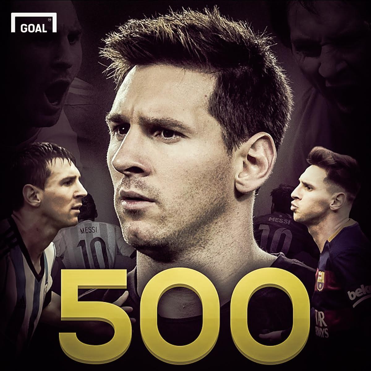 با گلزنی برابر والنسیا،تعداد گل های دوران ورزشی مسی به عدد 500 رسید!