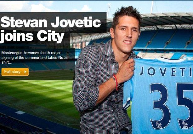 Stevan Jovetic resmi menjadi anggota baru Manchester City