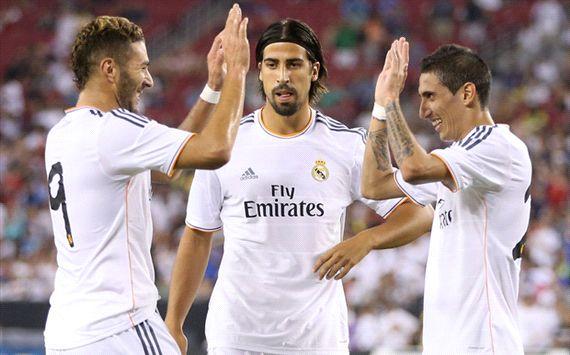 Karim Benzema, Sami Khedira, Angel Di Maria - Real Madrid vs Galaxy