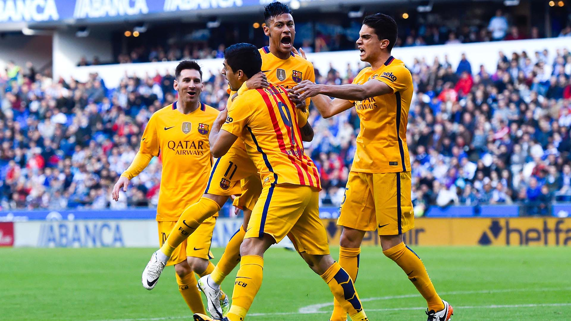 هفته سی و چهارم لالیگا :بارسلونا 8 دیپورتیوولاکرونیا 0 ، برد 3 بر 0 رئال مادرید برابر ویارئال