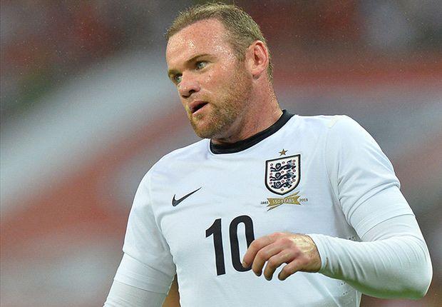 Wayne Rooney ketika membela timnas Inggris