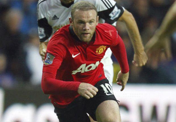 Wayne Rooney ketika beraksi menghadapi Swansea